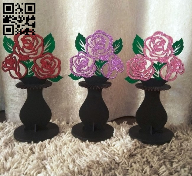 Flower napkin holder E0011554 file cdr and dxf free vector download for Laser cut