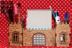 Fortress organizer E0011368 file cdr and dxf free vector download for Laser cut