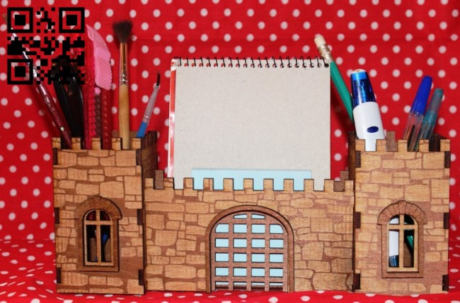 Fortress organizer E0011369 file cdr and dxf free vector download for Laser cut