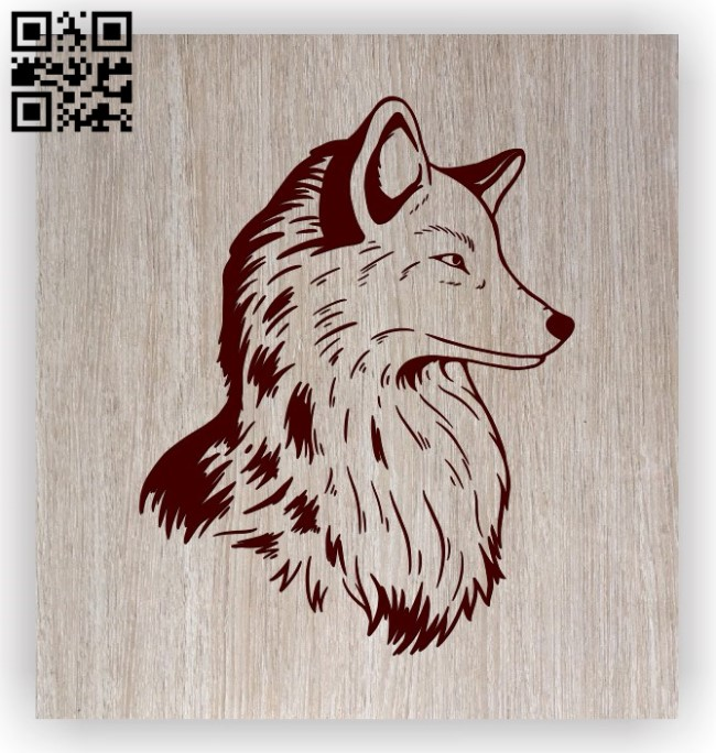 Fox E0011474 file cdr and dxf free vector download for laser engraving machines