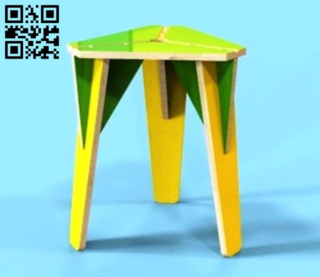 Furniture stool E0011508 file cdr and dxf free vector download for Laser cut