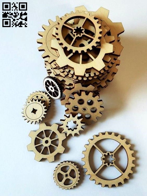 Gear E0011439 file cdr and dxf free vector download for Laser cut