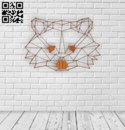 Geometrical cat head E0011392 file cdr and dxf free vector download for Laser cut