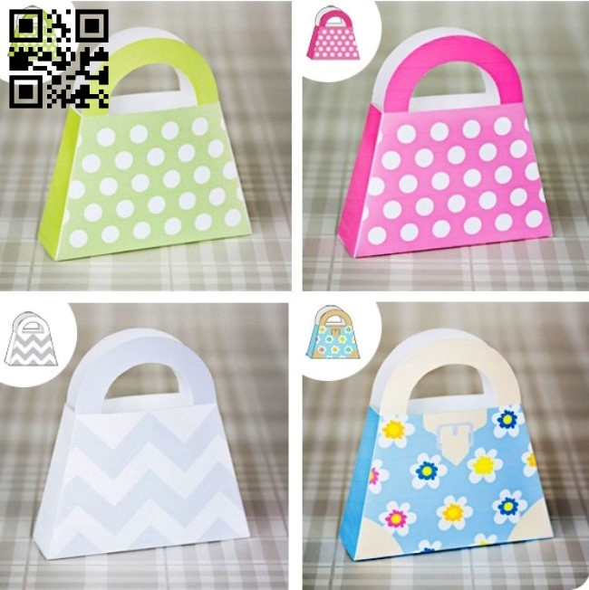 Gift hand bag E0011435 file cdr and dxf free vector download for Laser cut