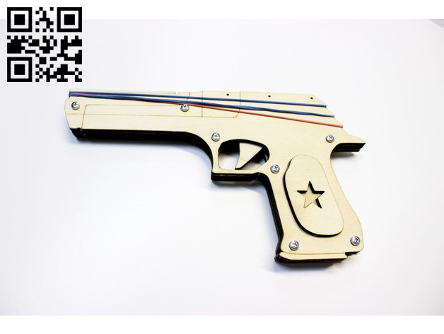 Gun E0011378 file cdr and dxf free vector download for Laser cut