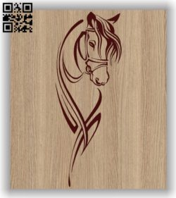 Horse E0011498 file cdr and dxf free vector download for laser engraving machines