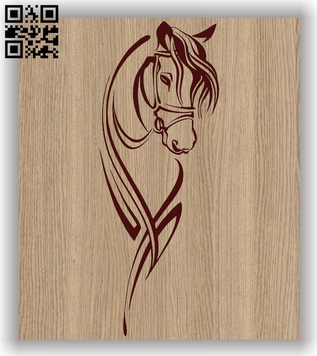 Horse E0011498 file cdr and dxf free vector download for laser engraving machines 1