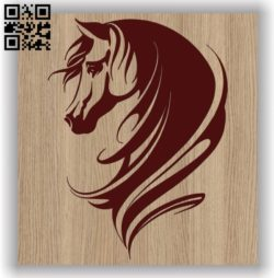 Horse head E0011497 file cdr and dxf free vector download for laser engraving machines