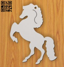 Horse key chain E0011358 file cdr and dxf free vector download for laser cut