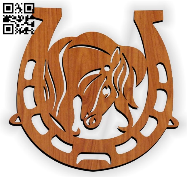 Horse shoes E0011467 file cdr and dxf free vector download for Laser cut
