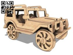Jeep car E0011422 file cdr and dxf free vector download for laser cut