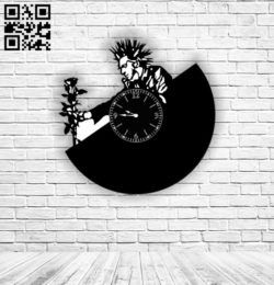 King and the Jester clock E0011520 file cdr and dxf free vector download for Laser cut