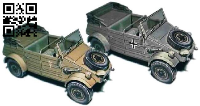 Kubelwagen E0011371 file cdr and dxf free vector download for Laser cut
