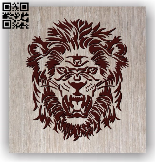 Lion head E0011471 file cdr and dxf free vector download for laser engraving machines