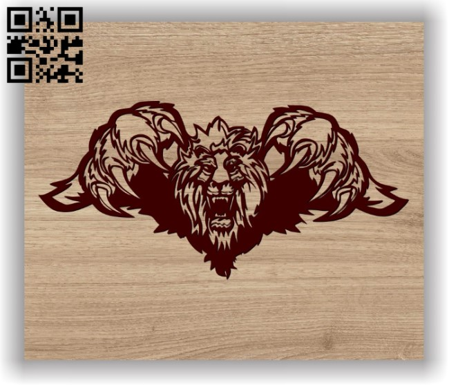 Lion's claw E0011599 file cdr and dxf free vector download for laser engraving machines
