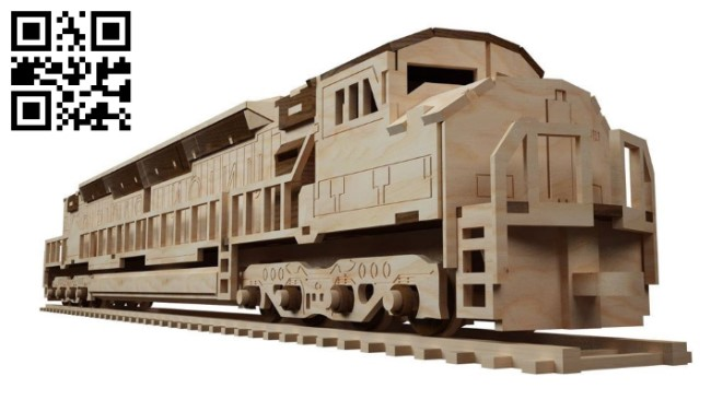 Locomotive E0011426 file cdr and dxf free vector download for laser cut
