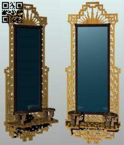 Mirror shelf E0011558 file cdr and dxf free vector download for Laser cut