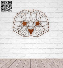 Owl head E0011394 file cdr and dxf free vector download for Laser cut