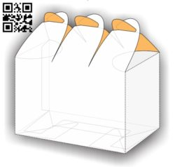 Paper box E0011438 file cdr and dxf free vector download for Laser cut