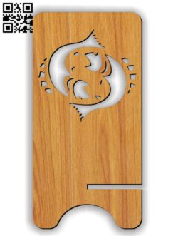 Pisces zodiac stand E0011617 file cdr and dxf free vector download for Laser cut