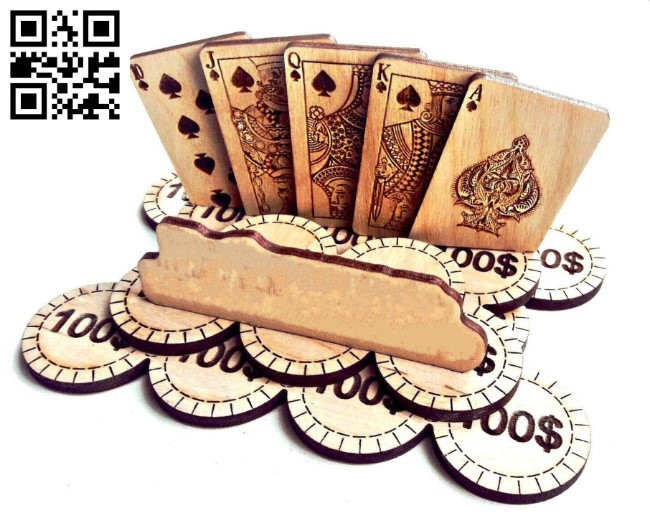 Poker E0011414 file cdr and dxf free vector download for laser engraving machines