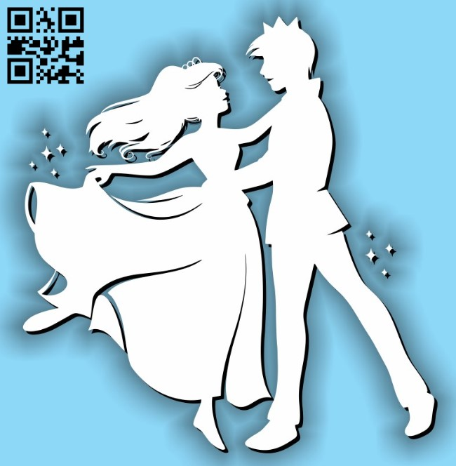 Princess and prince E0011635 file cdr and dxf free vector download for laser cut