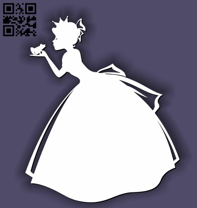 Princess with mouse E0011638 file cdr and dxf free vector download for laser cut