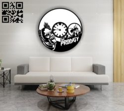 Prodigy clock E0011521 file cdr and dxf free vector download for Laser cut