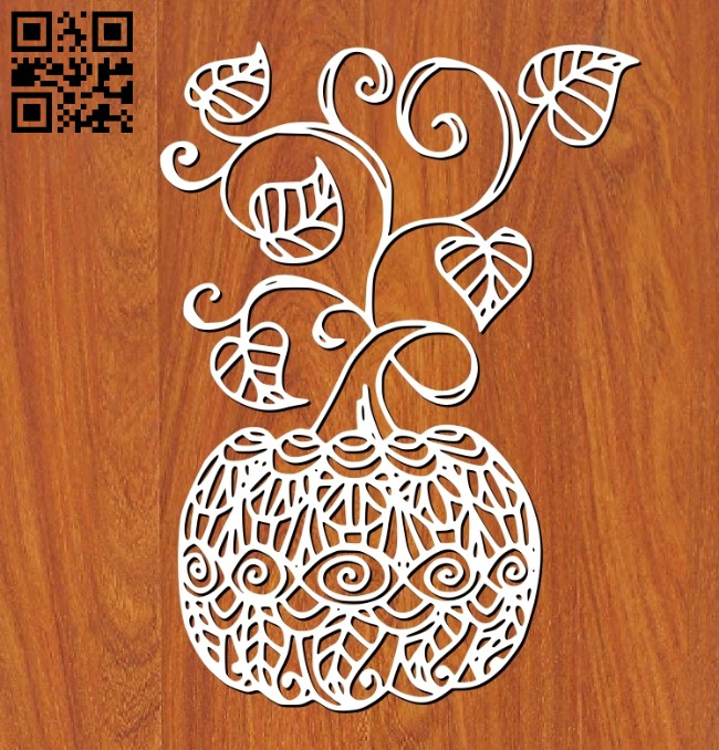 Pumpkin E0011408 file cdr and dxf free vector download for laser cut