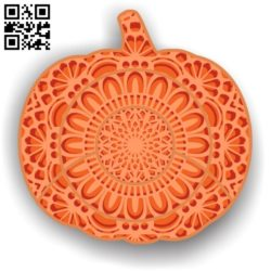Pumpkin Mandala multilayer halloween E0011531 file cdr and dxf free vector download for Laser cut