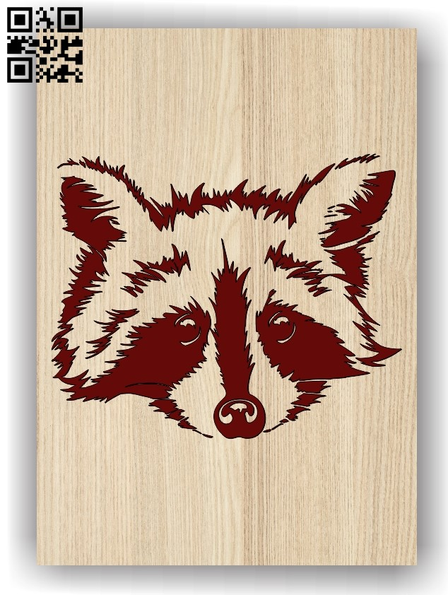 Raccoon E0011364 file cdr and dxf free vector download for laser engraving machines