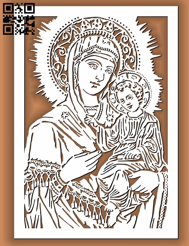 Religious picture E0011356 file cdr and dxf free vector download for laser cut