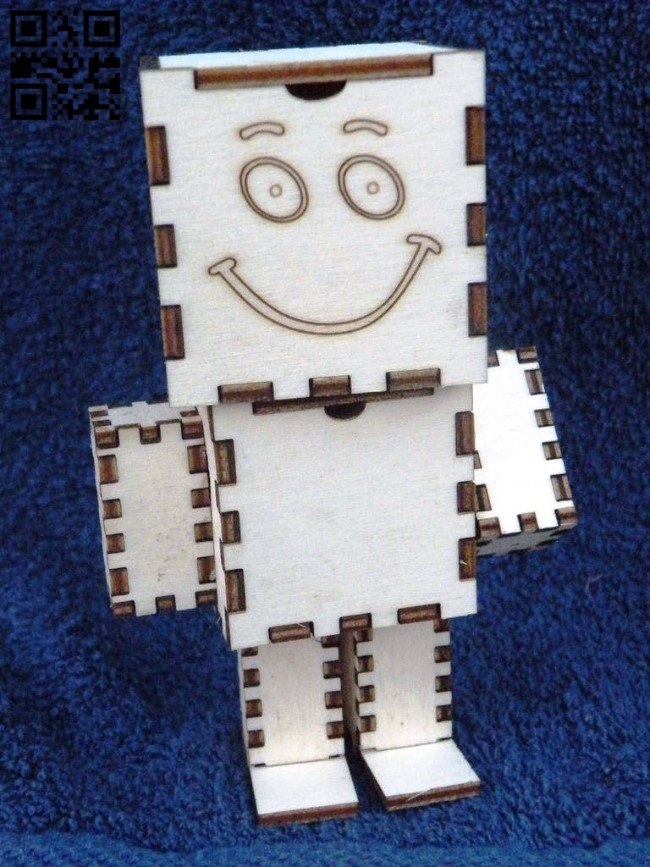 Robot box E0011385 file cdr and dxf free vector download for Laser cut