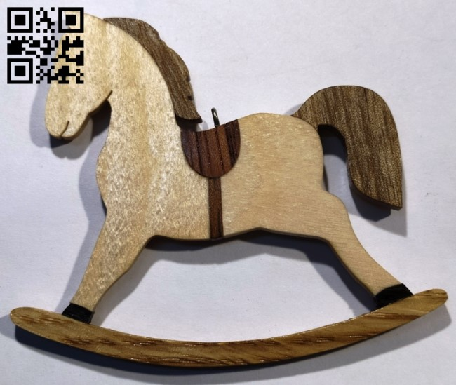 Rocking horse E0011499 file cdr and dxf free vector download for laser cut