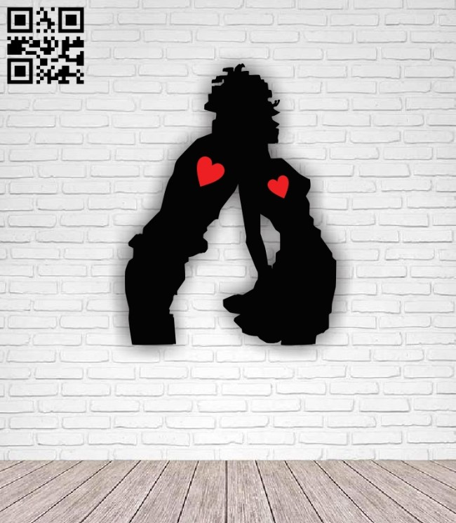 Romantic love E0011388 file cdr and dxf free vector download for Laser cut