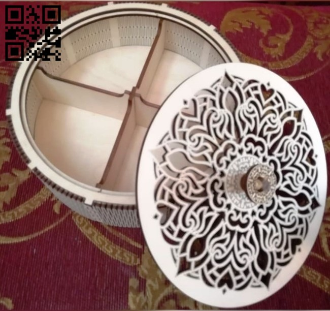Round box E0011550 file cdr and dxf free vector download for Laser cut