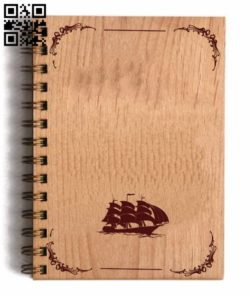 Sailboat decorated book coverr E0011583 file cdr and dxf free vector download for laser engraving machines