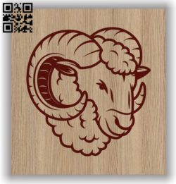 Sheep head E0011496 file cdr and dxf free vector download for laser engraving machines