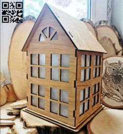 Simple home E0011578 file cdr and dxf free vector download for Laser cut