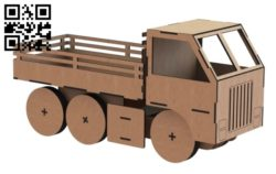 Simple truck E0011423 file cdr and dxf free vector download for laser cut
