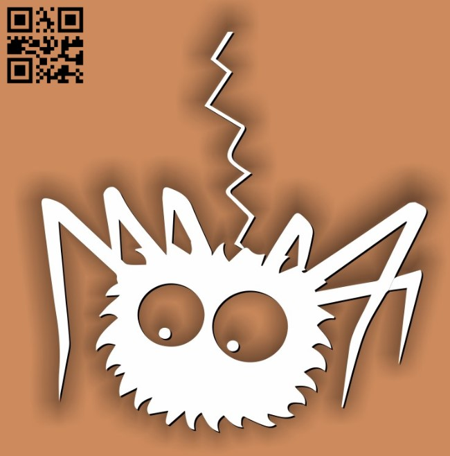Spider Halloween E0011591 file cdr and dxf free vector download for laser cut