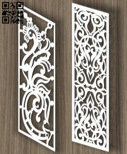 Stair partition E0011429 file cdr and dxf free vector download for Laser cut cnc