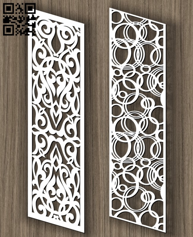 Stair partition E0011430 file cdr and dxf free vector download for Laser cut cnc