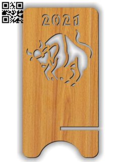 Stand Bull 202 E0011614 file cdr and dxf free vector download for Laser cut