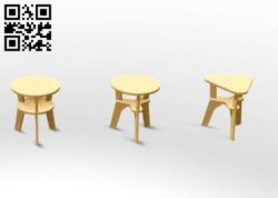 Stool E0011555 file cdr and dxf free vector download for Laser cut