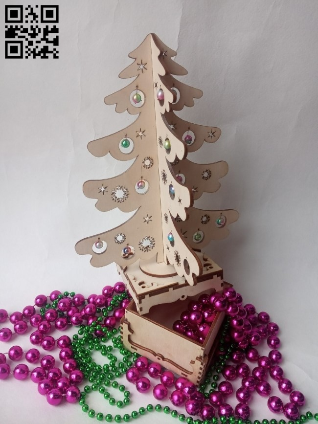 Surprise Christmas tree E0011641 file cdr and dxf free vector download for Laser cut