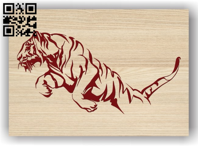 Tiger E0011362 file cdr and dxf free vector download for laser engraving machines