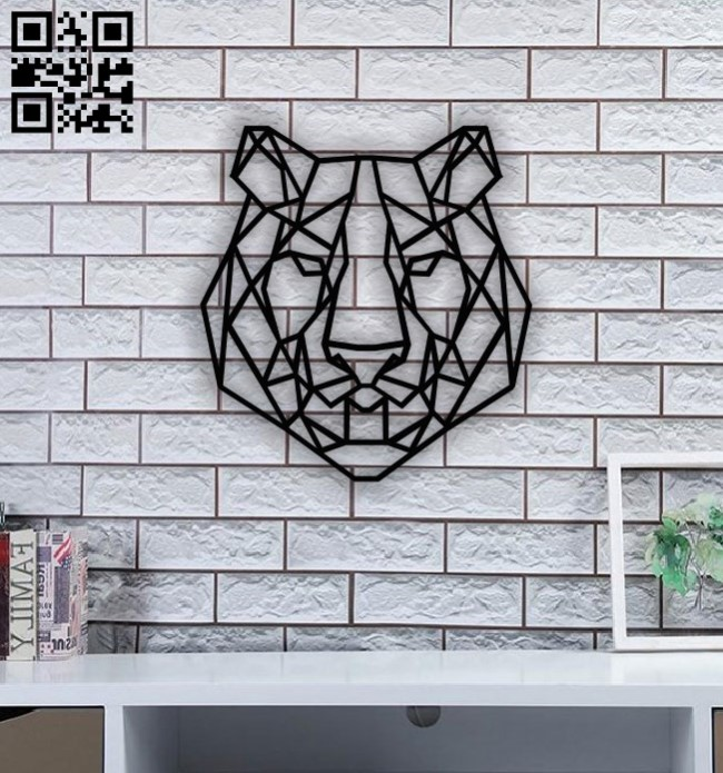 Tiger head E0011518 file cdr and dxf free vector download for Laser cut