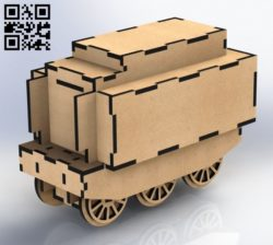 Train wagon E0011421 file cdr and dxf free vector download for laser cut