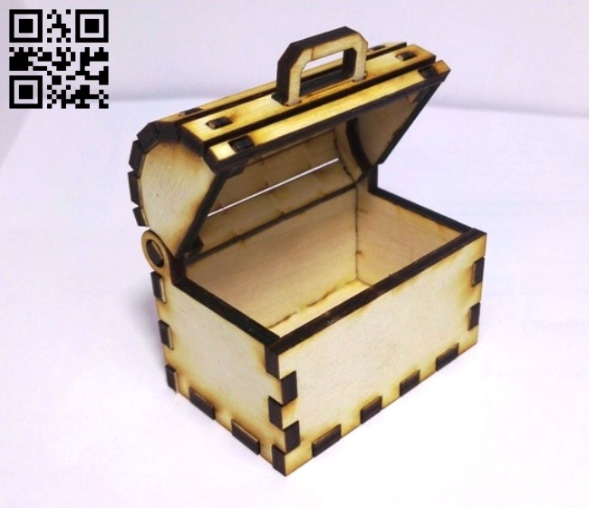 Treasure chest small E0011380 file cdr and dxf free vector download for Laser cut